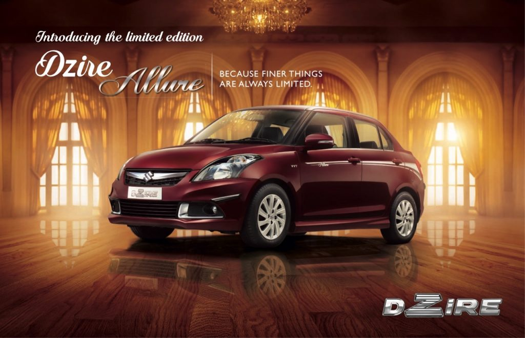 Maruti Swift Dzire Limited Edition Allure Introduced in India